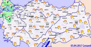 Hava Sıcaklığı, Kuzeybatı Kesimlerde 1 ila 3 Derece Azalacak