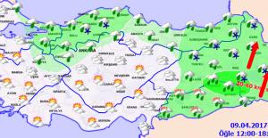 Kuzey ve Doğu Kesimler Yağışlı