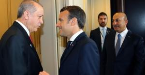 Cumhurbaşkanı Erdoğan Macron İle Görüştü
