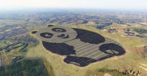 Çin'de Panda Biçiminde Güneş Enerjisi Santrali
