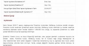 Beşiktaş'tan KAP'a Mario Gomez Açıklaması