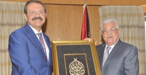 Filistin Devlet Başkanı Mahmut Abbas Ve Hisarcıklıoğlu, Cenin Sanayi Bölgesi'ni Görüştü