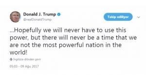 Trump Nükleer Silah Tehdidinde Bulundu