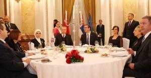 Cumhurbaşkanı Erdoğan, Vuçiç Tarafından Onuruna Verilen Yemeğe Katıldı