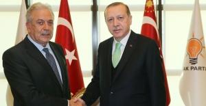 Cumhurbaşkanı Erdoğan AB Göç. İçişleri Ve Vatandaşlık Komiseri Avramopulos'u Kabul Etti