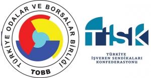 """TOBB Ve TİSK'den Ortak Talep: """"Asgari Ücrete Destek Devam Etmeli"""""""