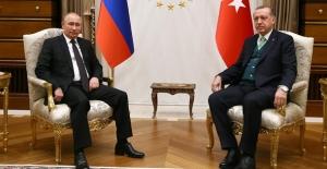 Cumhurbaşkanı Erdoğan İle Putin Görüşmesi Sona Erdi