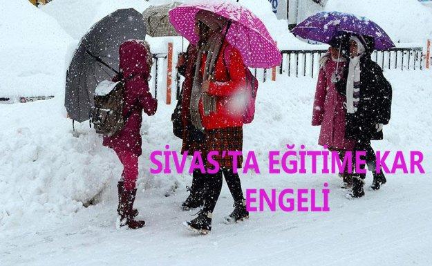 Sivas'ın Suşehri İlçesinde Eğitime Kar Engeli