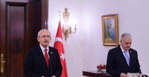 Başbakan Yıldırım İle Kılıçdaroğlu'ndan Afrin Görüşmesi
