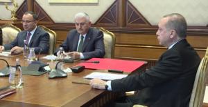 Güvenlik Toplantısı Cumhurbaşkanı Erdoğan Başkanlığında Yapıldı
