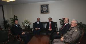 Vali Topaca'dan Başkan Ercan'a Ziyaret