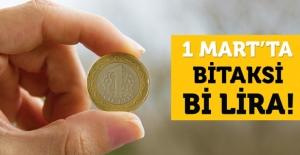 İstanbul'da Yarın Taksiler 1 Lira!