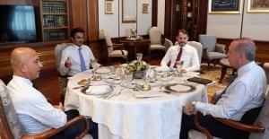 Cumhurbaşkanı Erdoğan Al Sani İle Çalışma Yemeğinde Bir Araya Geldi