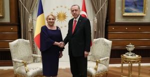 Romanya Başbakanı Dancila Cumhurbaşkanlığı Külliyesinde