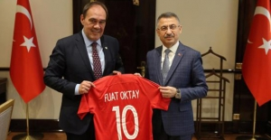 TFF Başkanı Demirören'den Cumhurbaşkanı Yardımcısı Oktay'a Ziyaret