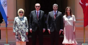 Cumhurbaşkanı Erdoğan, Paraguay Lopez Sarayı'nda