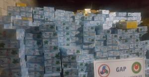 Gaziantep'te 25 Ton Kaçak Nargile Tütünü Ele Geçirildi