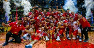A Milli Erkek Voleybol Takımı CEV Avrupa Altın Ligi Şampiyonu
