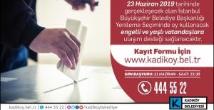 Kadıköy Belediyesi'nden İBB Seçimine Engelsiz Ulaşım Hizmeti