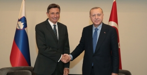 Cumhurbaşkanı Erdoğan, Slovenya Cumhurbaşkanı Pahor İle Görüştü