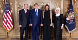 Cumhurbaşkanı Erdoğan, ABD Başkanı Trump Tarafından Heyet Başkanları Onuruna Verilen Resepsiyona Katıldı