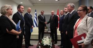 Cumhurbaşkanı Erdoğan, Yunanistan Başbakanı Miçotakis İle Görüştü