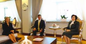 Danıştay Başkanı Güngör, TBB Başkanı Feyzioğlu'nu Kabul Etti