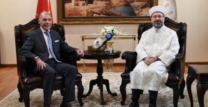 Diyanet İşleri Başkanı Erbaş, Arjantin Büyükelçisi'ni Kabul Etti