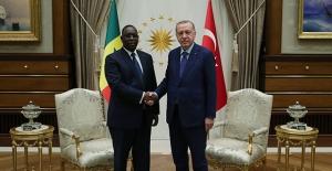 Cumhurbaşkanı Erdoğan, Senegal Cumhurbaşkanı Sall İle Bir Araya Geldi