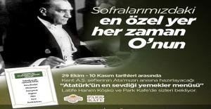 Karşıyaka'dan 10 Kasım Anısına Atatürk Sofrası