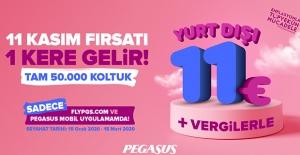 Pegasus'tan 11 Euro'ya Yurt Dışı Bileti