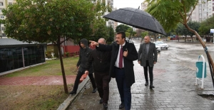 Başkan Çetin Yağmur Çamur Dinlemiyor