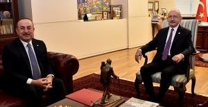 Kılıçdaroğlu, Dışişleri Bakanı Çavuşoğlu'nu Kabul Etti
