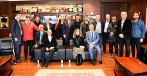 Amatör Spor Kulüplerinden Başkan Çetin'e Teşekkür