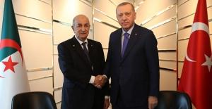 Cumhurbaşkanı Erdoğan, Cezayir Cumhurbaşkanı Tebbun İle Görüştü