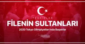 Cumhurbaşkanı Erdoğan'dan Filenin Sultanları'na Kutlama Mesajı