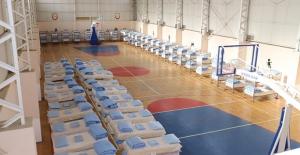 """MSB: """"Kolordu Komutanlığımızın Spor Salonu Depremzede Vatandaşlarımız İçin Barınma Alanı Haline Getirildi"""""""