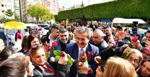 Başkan Çetin'e Sevgi Seli