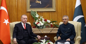 Cumhurbaşkanı Erdoğan, Pakistan Cumhurbaşkanı Alvi İle Görüştü