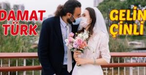 Türk Damat İle Çinli Gelin Karantinadan Sonra Evlendi
