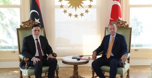 Cumhurbaşkanı Erdoğan, Libya Ulusal Mutabakat Hükûmeti Başkanlık Konseyi Başkanı Es-Serrac İle Görüştü