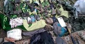 Irak Kuzeyinde Terör Örgütü PKK'ya Ait Çok Sayıda Silah, Mühimmat Ve Malzeme Ele Geçirildi