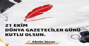 AK Parti'li Yavuz'dan Dünya Gazeteciler Günü Mesajı