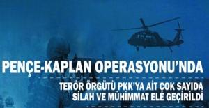 Pençe-Kaplan Operasyonu'nda Terör Örgütü PKK'ya Ait Çok Sayıda Silah ve Mühimmatlar Ele Geçirildi