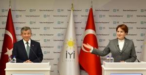 Akşener ve Davutoğlu'ndan Ortak Basın Açıklaması