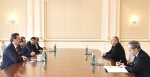 Azerbaycan Devlet Başkanı Aliyev Hisarcıklıoğlu'nu Kabul Etti