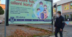 Vakaların Arttığı Lüleburgaz'da Reklam Panoları Evde Kal Mesajlarıyla Donatıldı