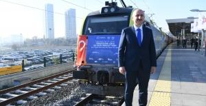 Çin'e Ulaşan İlk İhracat Treni İçin Karşılama Töreni Yapıldı
