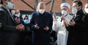 Cumhurbaşkanı Erdoğan, Tarihçi Ve Yazar Yavuz Bahadıroğlu'nun Cenaze Törenine Katıldı