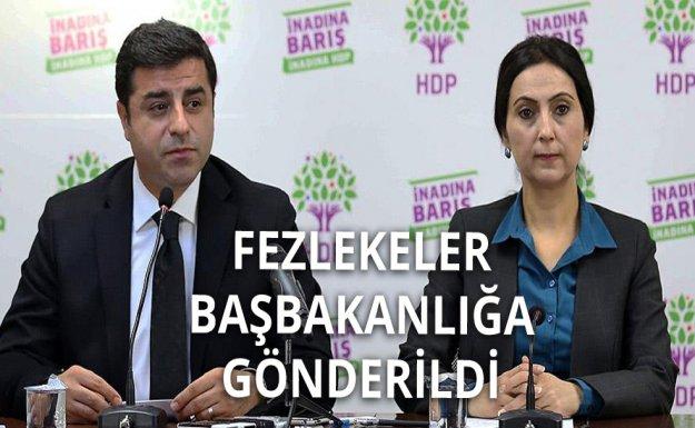 HDP'li 5 Vekilin Fezlekesi Başbakanlığa Gönderildi